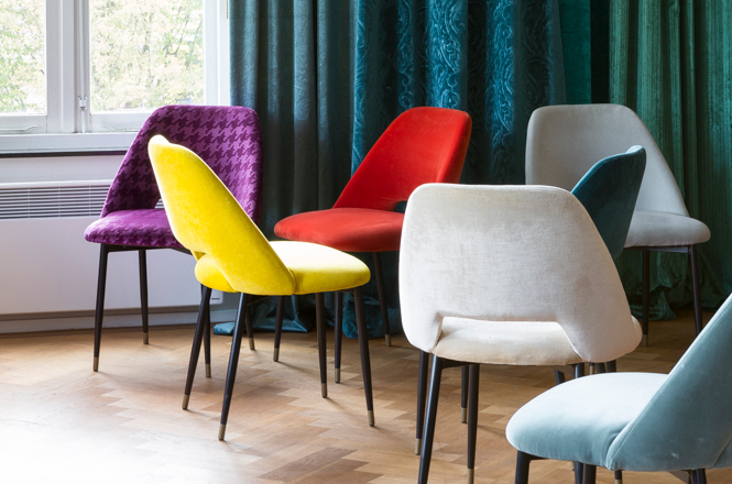 Raymakers multi colour chairs velvet
