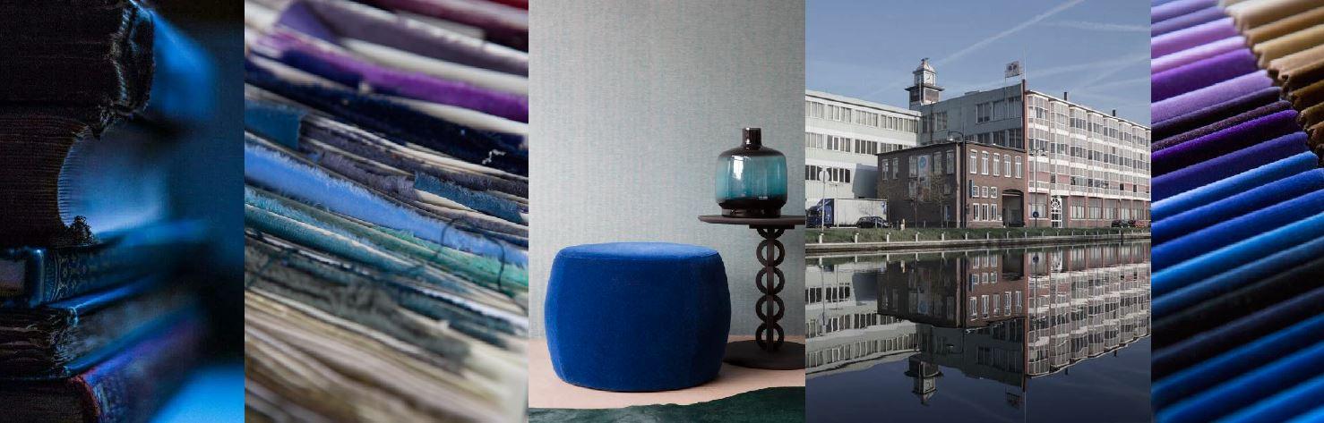 Raymakers Velvet textile blue
