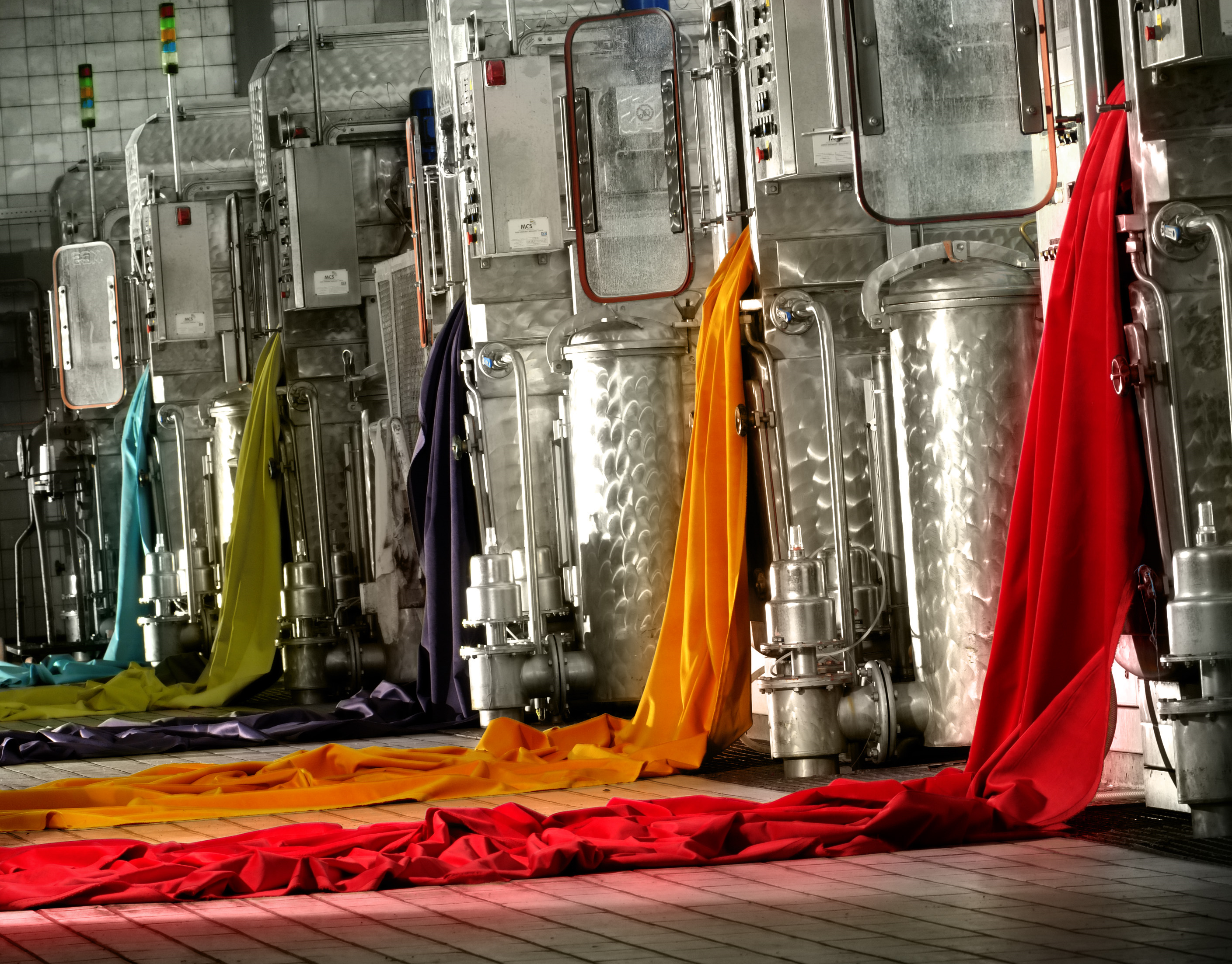 Raymakers velvet dyeing machines multi colour